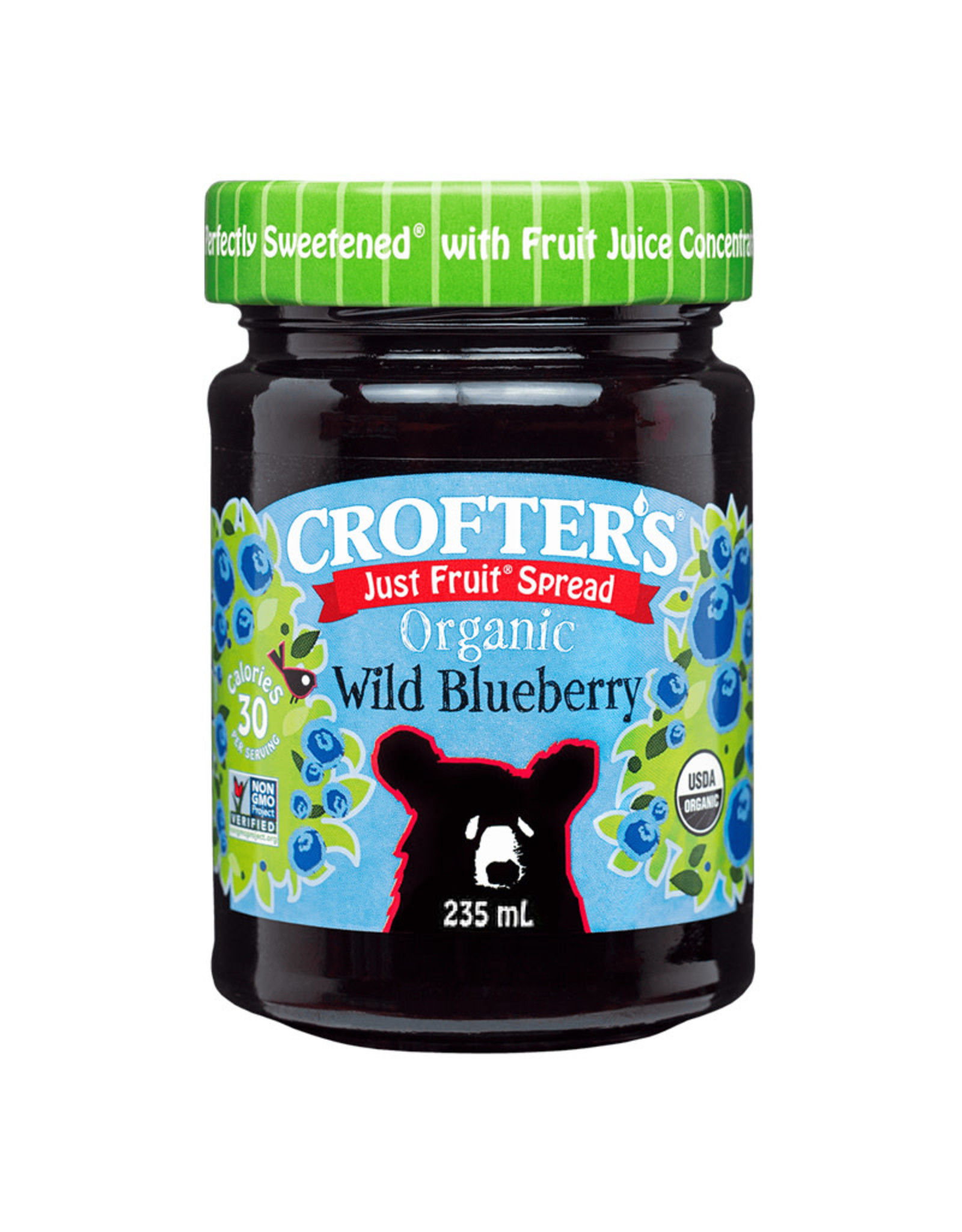 Crofters Organic Crofters Organic - Just Fruit Spread, Wild Blueberry (235ml)