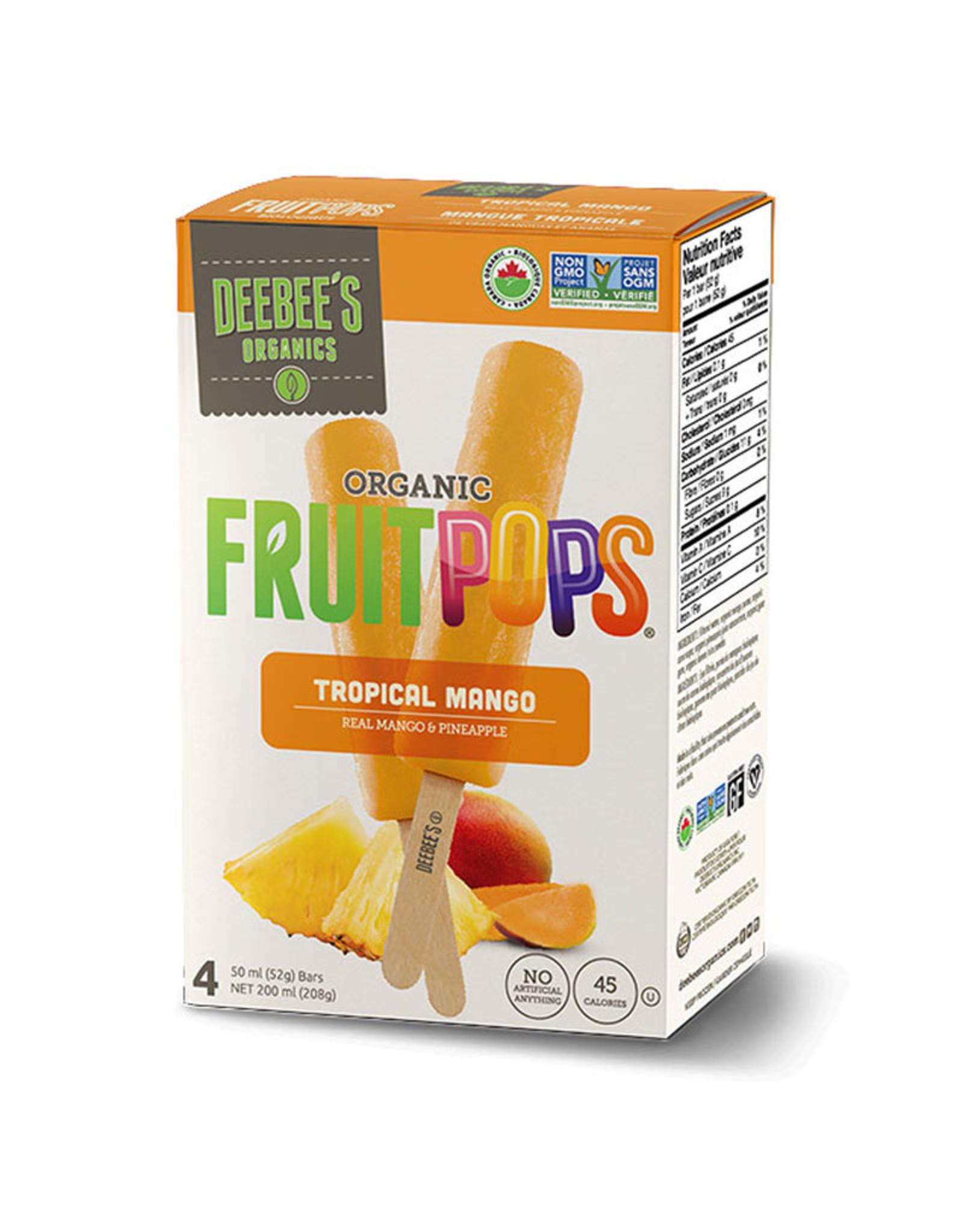 Deebees Organics Deebees Organics - FruitPops, Tropical Mango