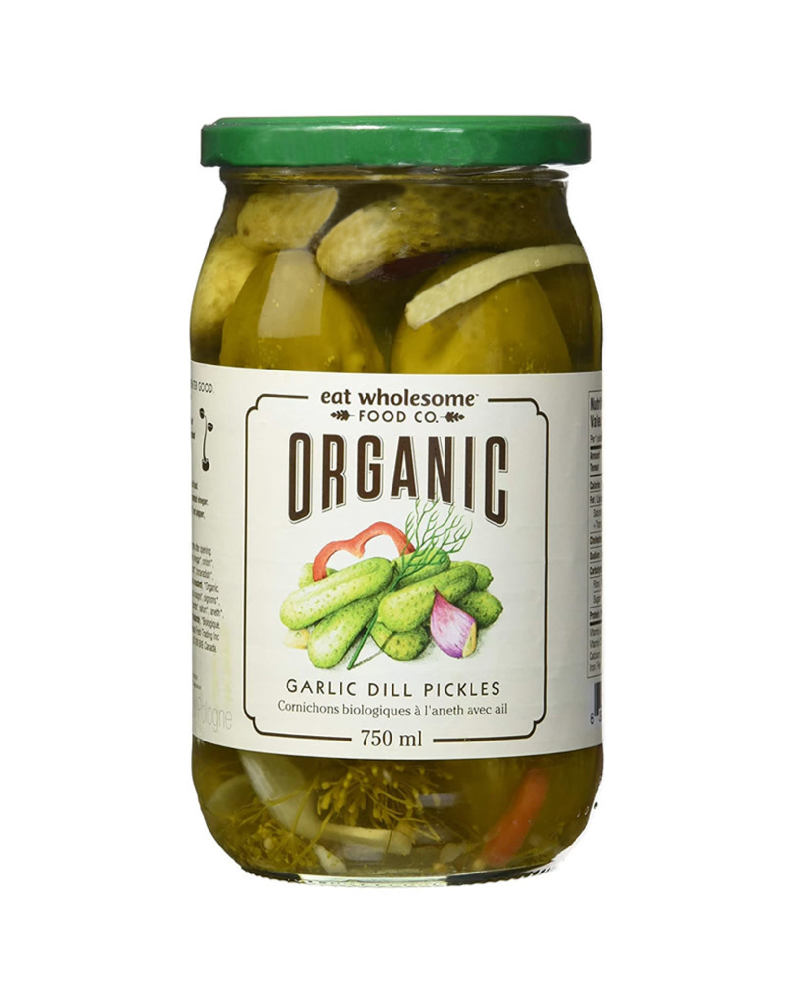 Eat Wholesome Eat Wholesome - Organic Garlic Dill Pickles (750ml)