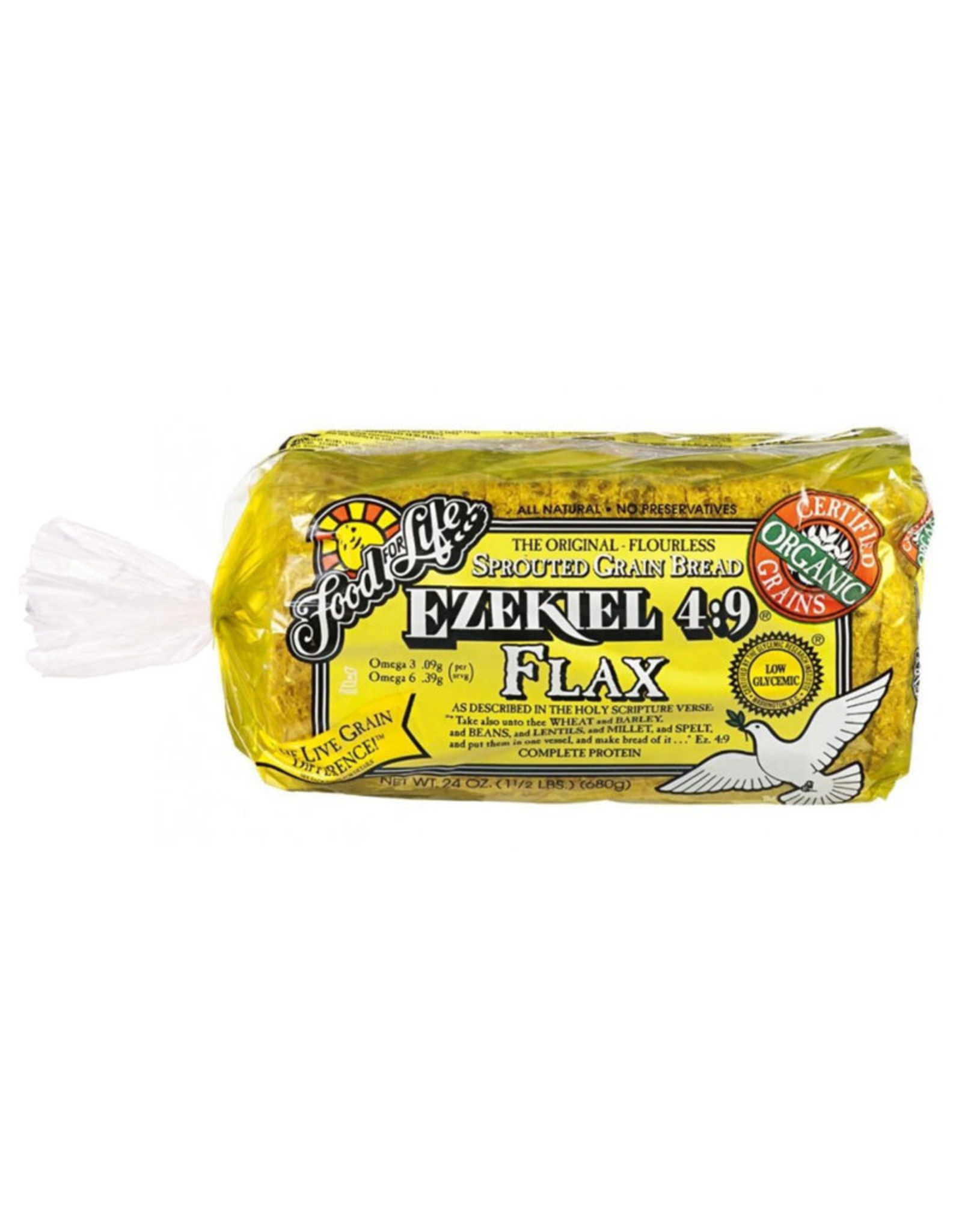 Food For Life FFL - Bread, Ezekiel Sprouted Grain Flax