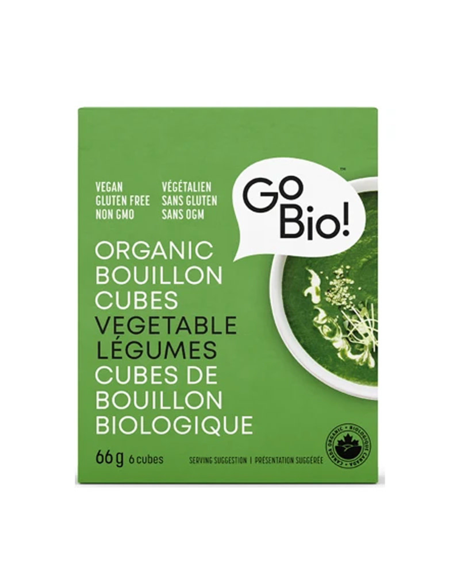 GoBio GoBio - Bouillon Cubes, Vegetable (66g)