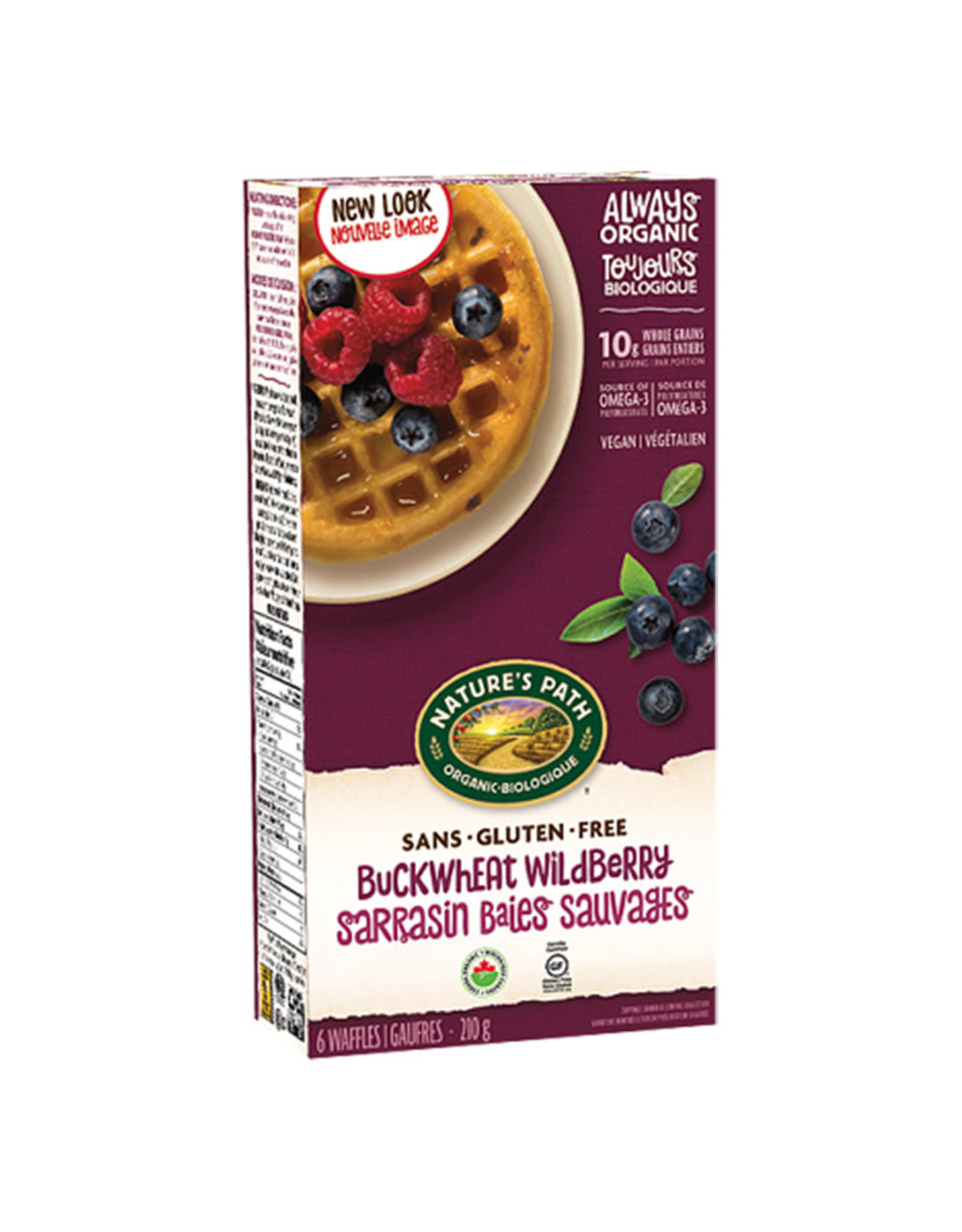 Natures Path Natures Path - Frozen Waffles, Buckwheat Wildberry (210g)