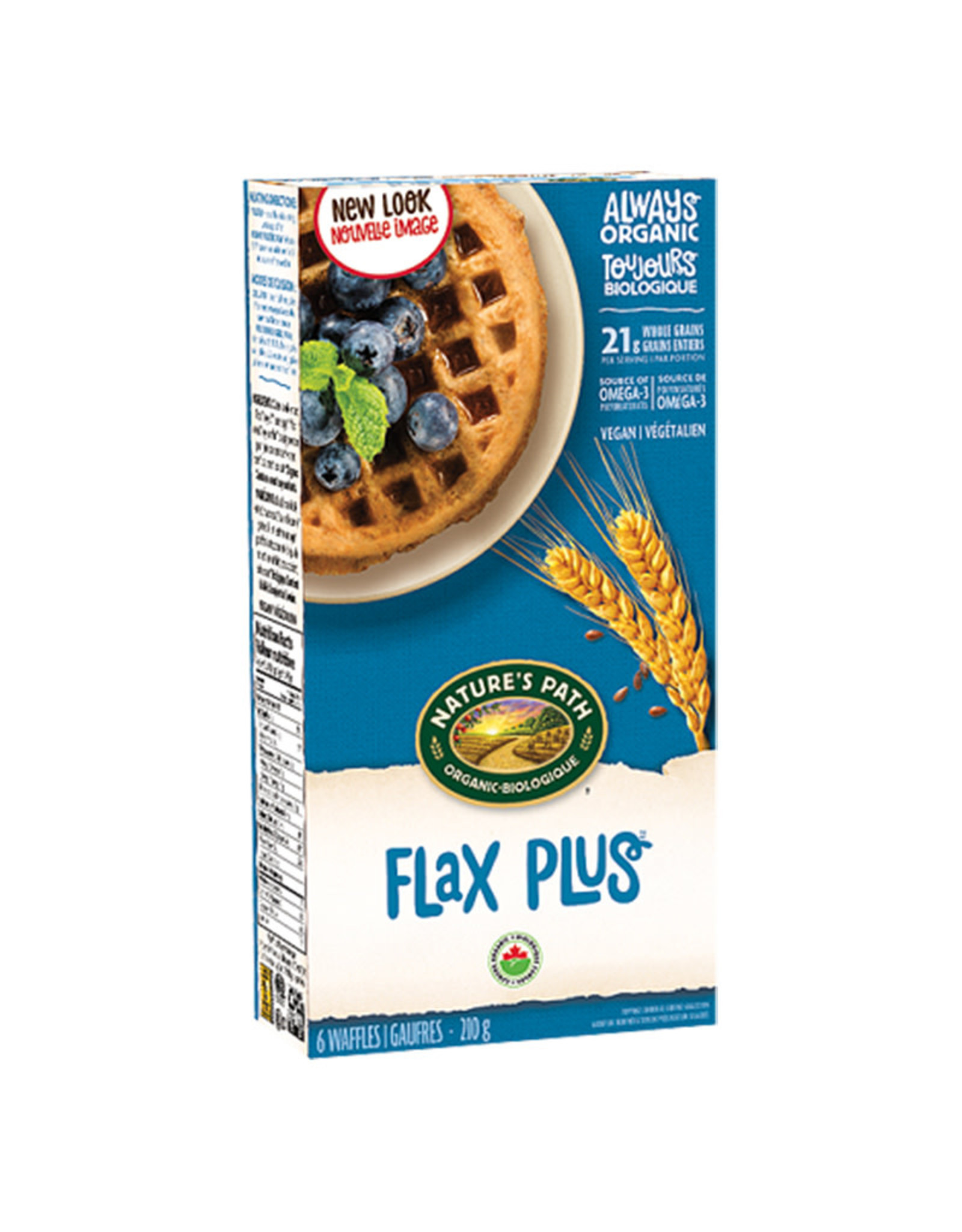 Natures Path Natures Path - Frozen Waffles, Flax Plus (210g)