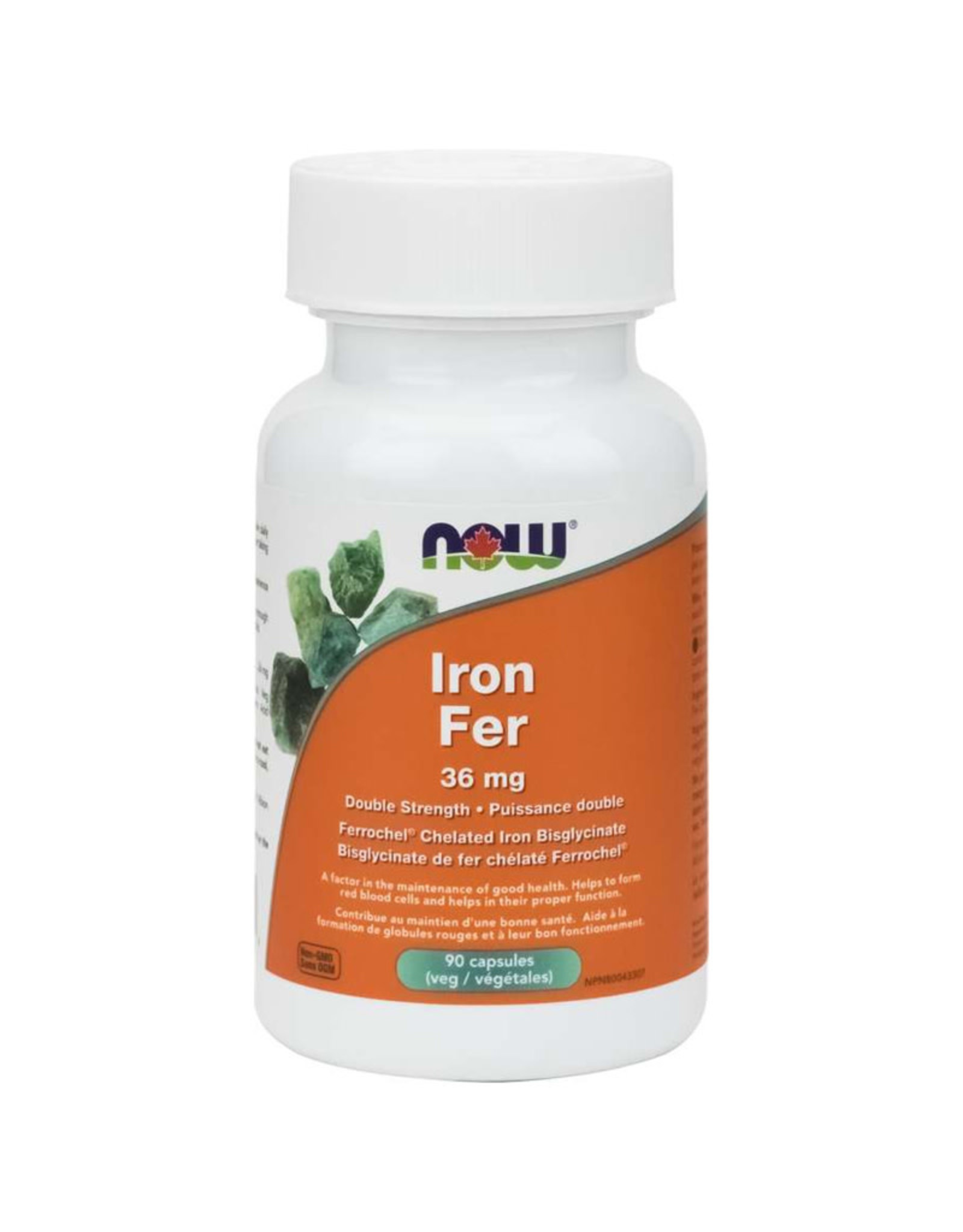 NOW Foods NOW Foods - Iron Bysglycinate 36 mg (90vcaps)