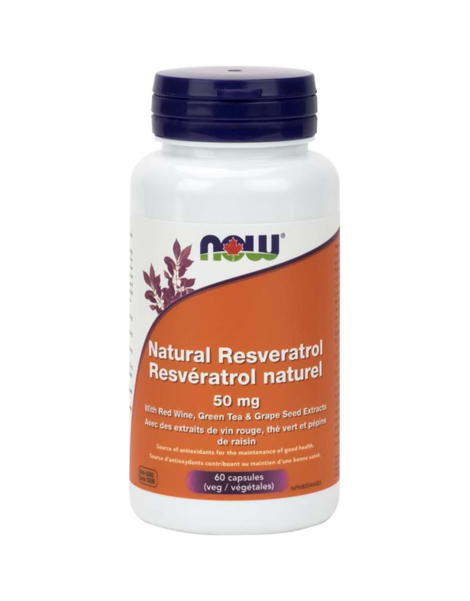 NOW Foods NOW Foods - Natural Resveratrol 50mg Plus (60vcaps)