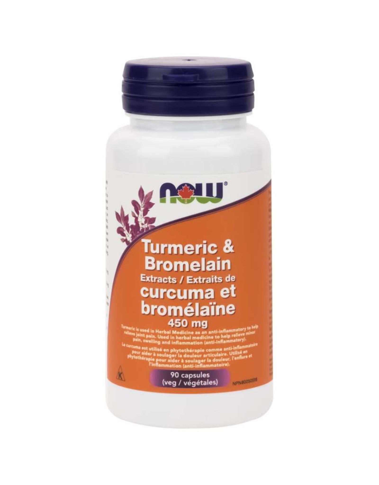 NOW Foods NOW Foods - Turmeric + Bromelain 450mg (90Vcap)