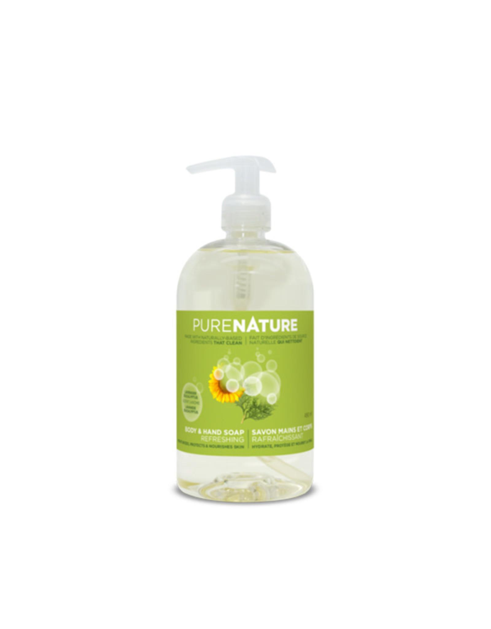 Purenature Purenature - Body Care, Moisturizing Hands & Body Soap Refreshing (490ml)