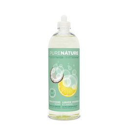 Purenature Purenature - Dish & Hand Liquid, Lemon & Mint (710ml)
