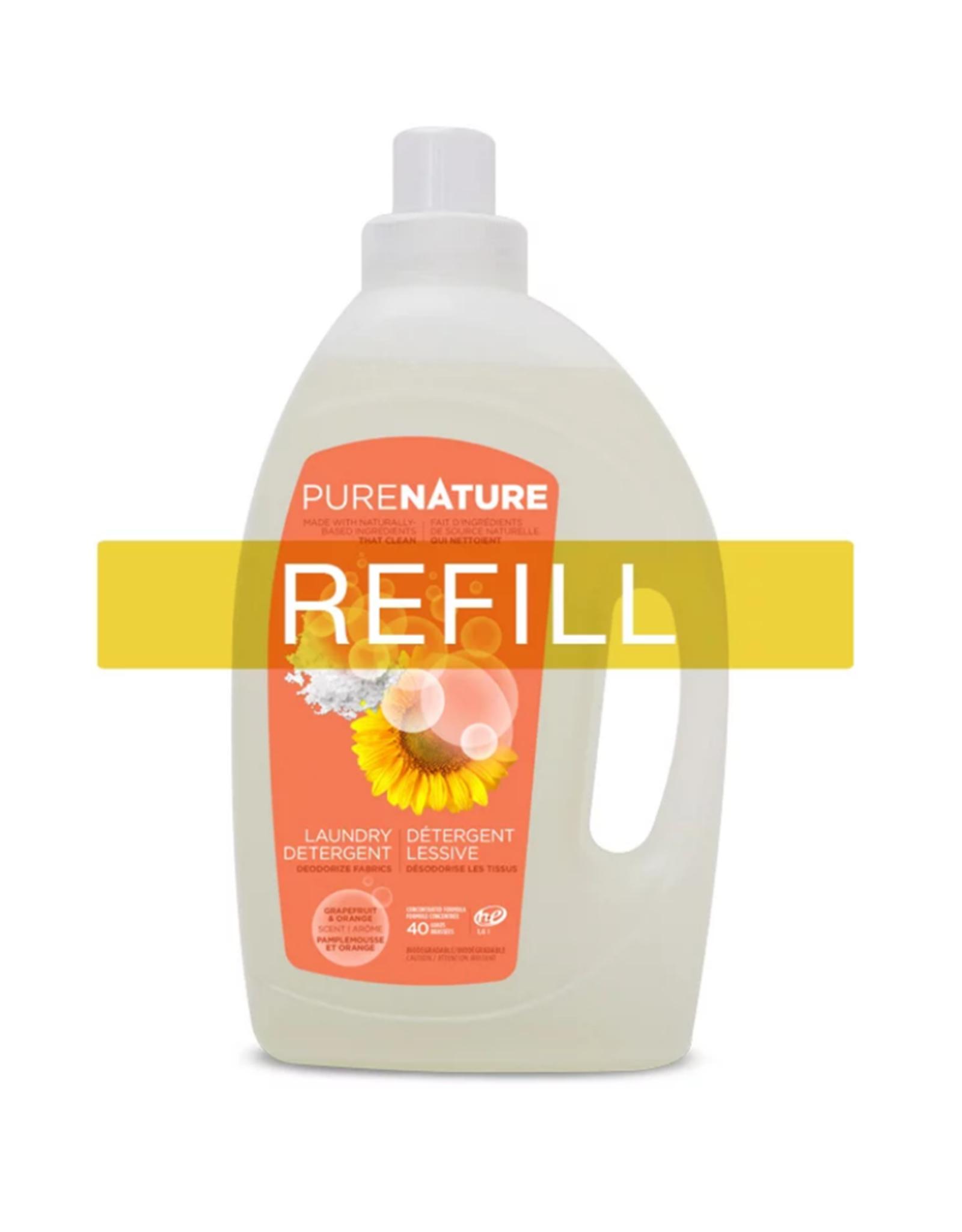 Purenature Purenature - Laundry Detergent, Orange & Grapefruit - REFILL