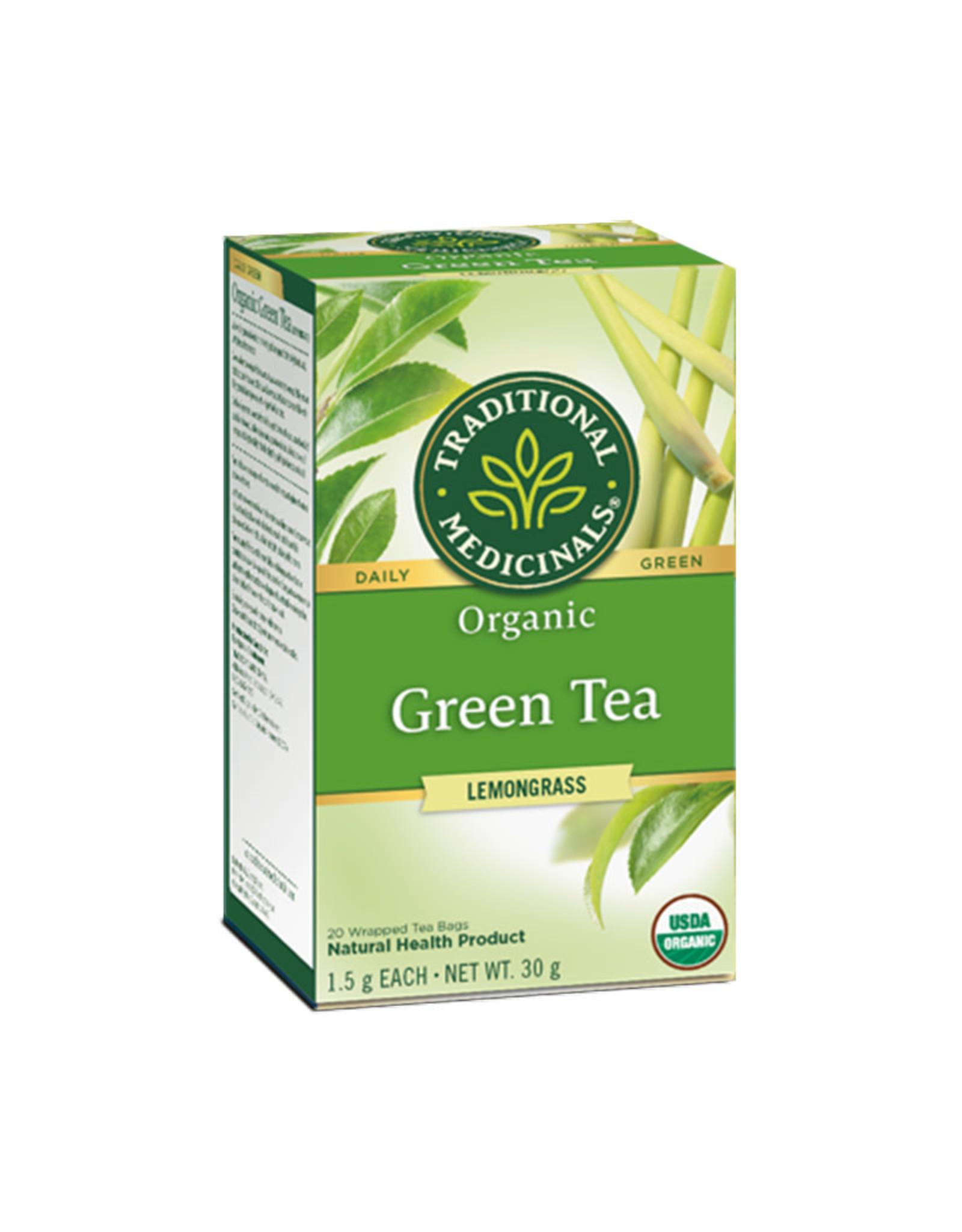 Traditional Medicinals Traditional Medicinals - Fair Trade Herbal Tea, Organic Green Tea with Lemongrass