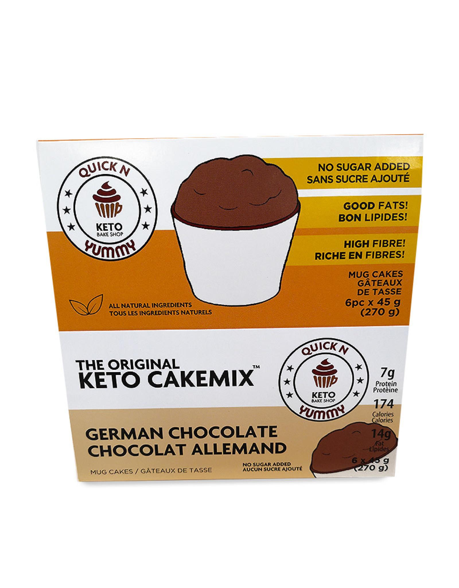 Quick n Yummy Quick n Yummy - Keto Cakemix, German Choc (6x45g)