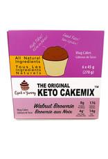 Quick n Yummy Quick n Yummy - Keto Cakemix, Walnut Brownie (6x45g)
