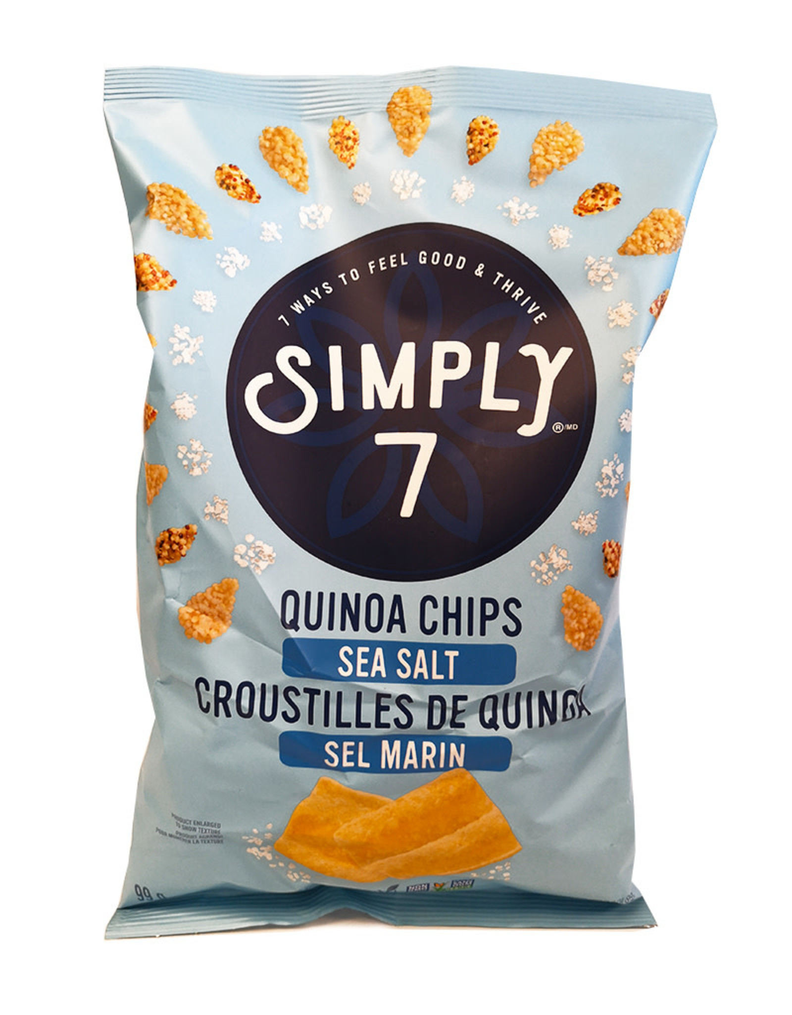 Simply 7 Simply 7 - Quinoa Chips, Sea Salt (99g)