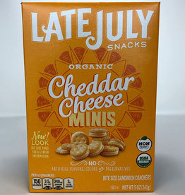 Late July Late July - Crackers, Mini Cheddar Sandwich (142g)