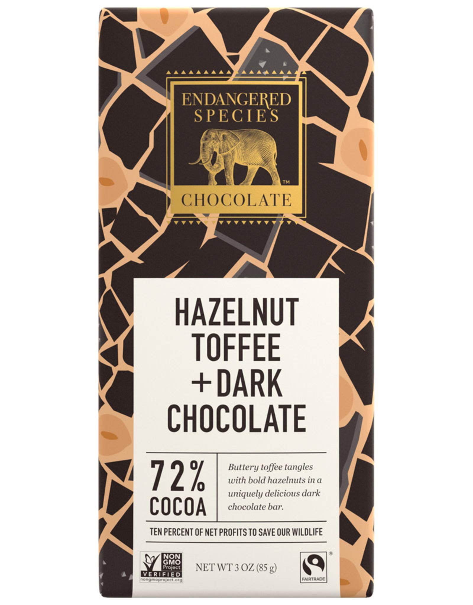 Endangered Species Endangered Species - Dark Chocolate Bar, Rhino Hazelnut (85g)