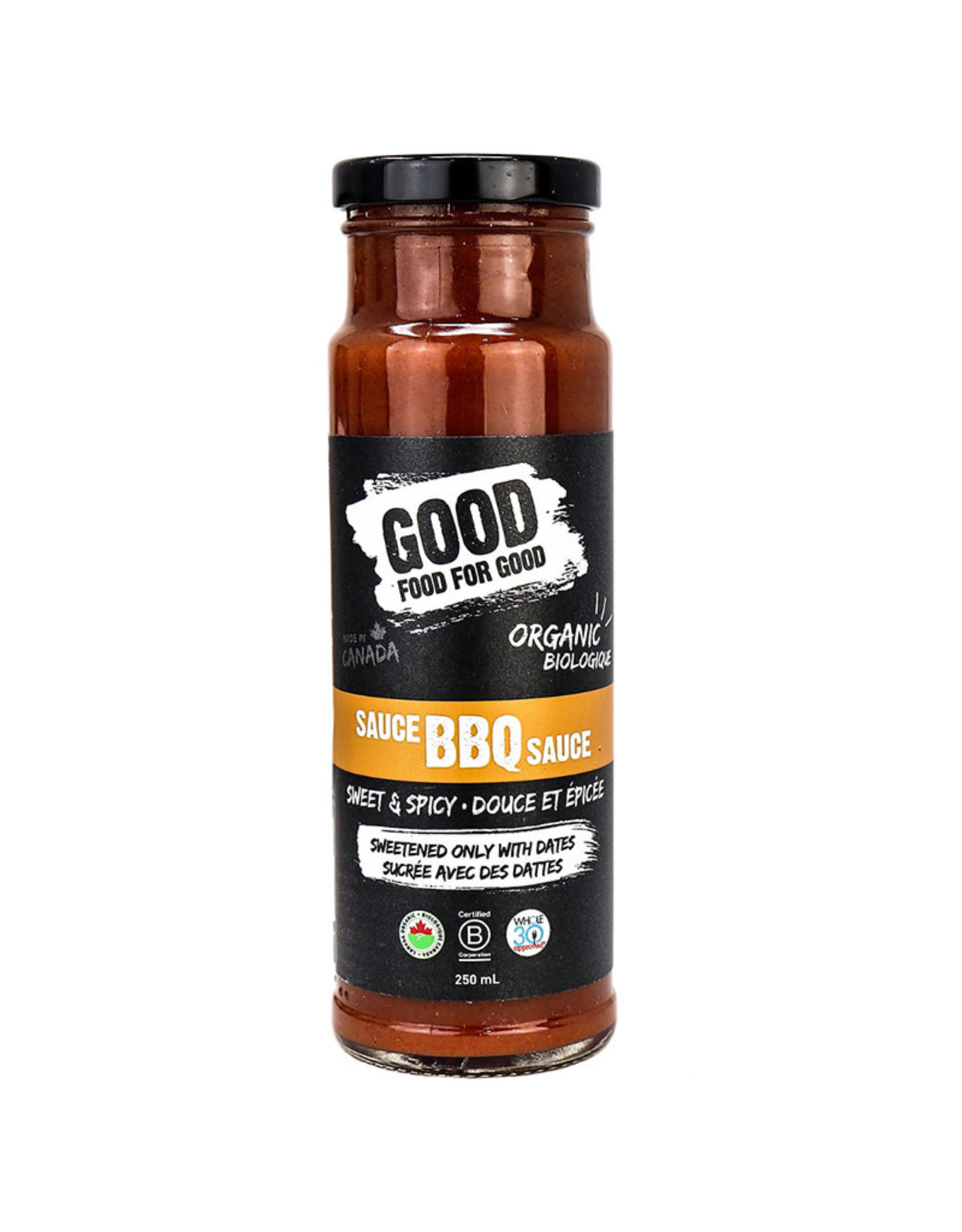 Good Food For Good Good Food For Good - Organic BBQ Sauce, Sweet Spicy (250ml)