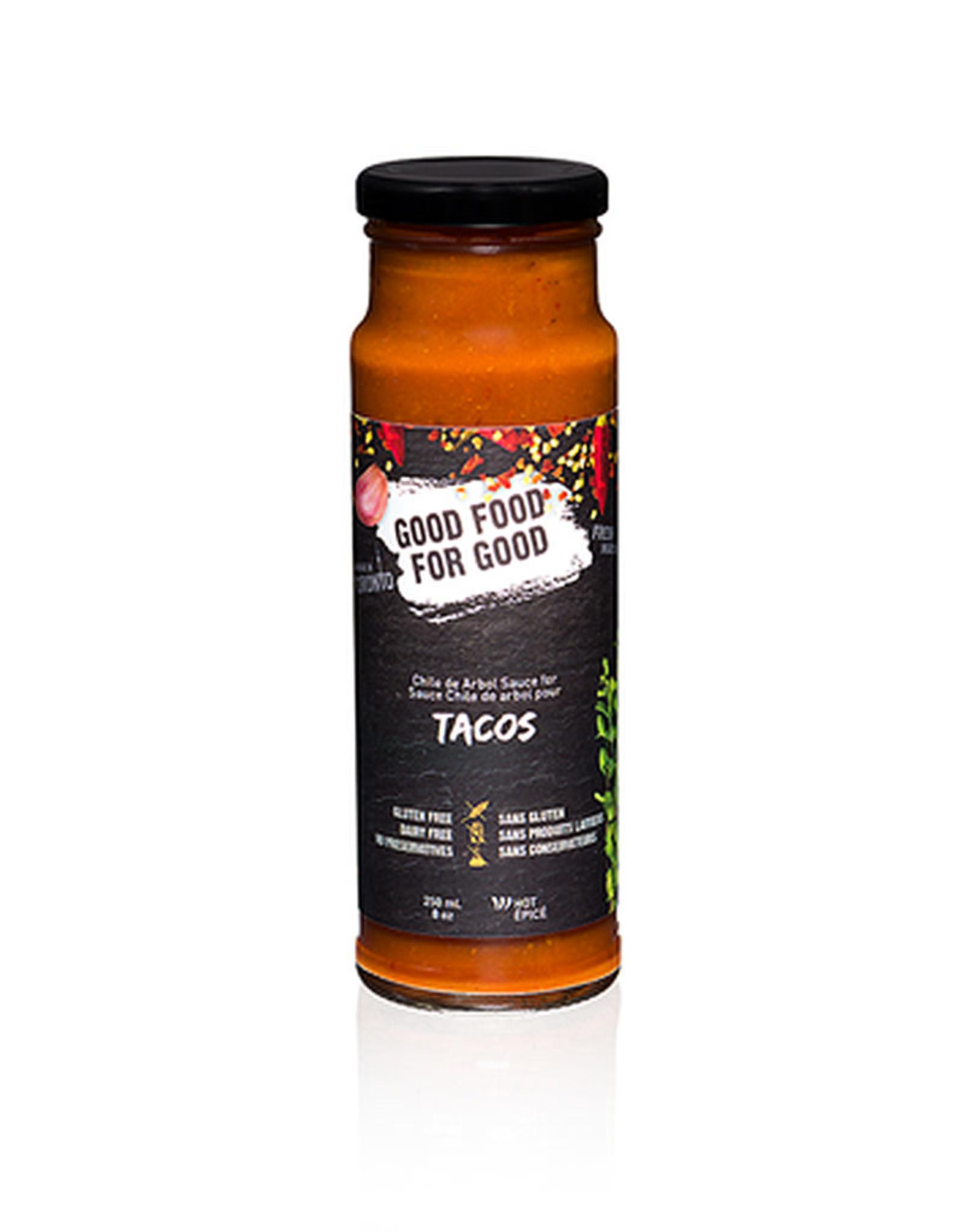 Good Food For Good Good Food For Good - Taco Sauce Spicy (250ml)