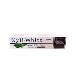 NOW Foods NOW Solutions - Xyli White Toothpaste Gel, Neem & Tea Tree  (181g)
