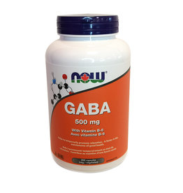 NOW Foods NOW Foods - Gaba 500mg + B-6 (200vcaps)