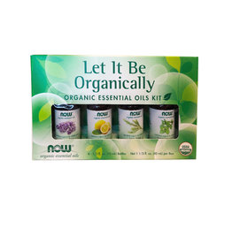 NOW Foods NOW Foods - EO Kit, Let It Be Organically (4*10ml)