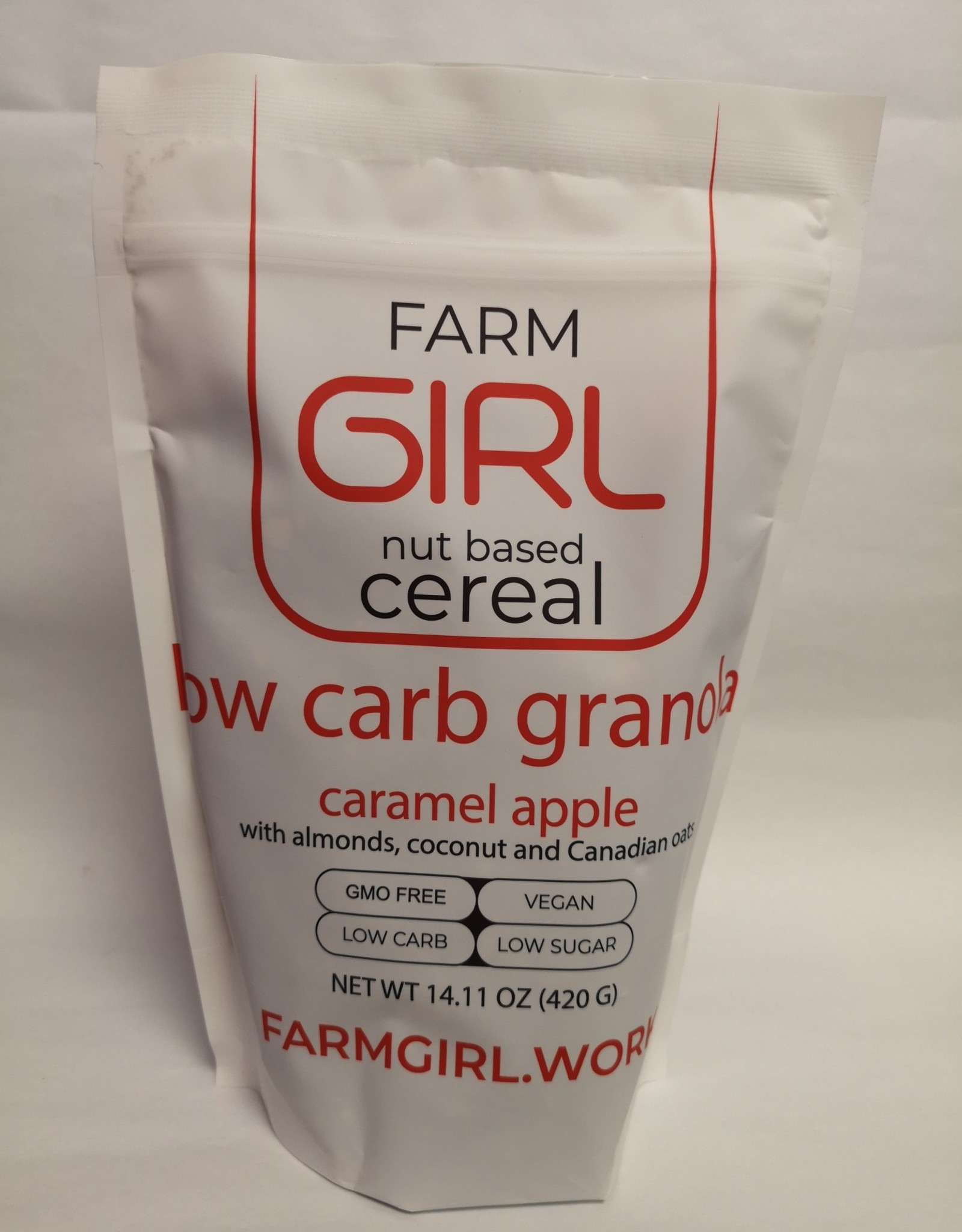 Farm Girl Farm Girl - Low Carb Granola, Caramel Apple Spice (420g)
