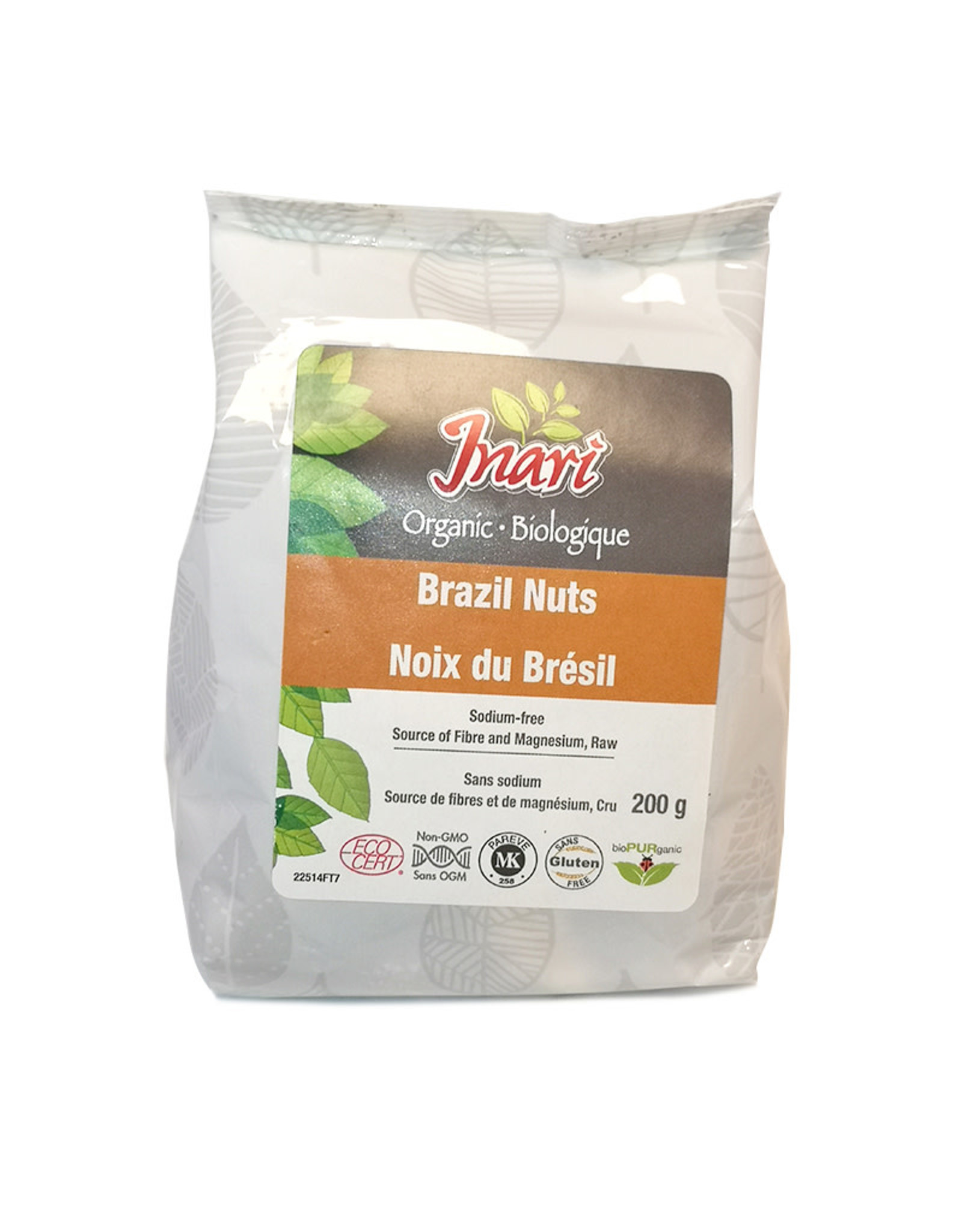 Inari Inari - Org Brazil Nuts Raw, Whole (200g)