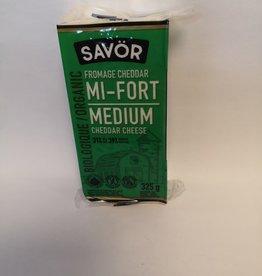 Savor Savor - Organic Medium Cheddar Cheese (325g)