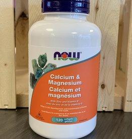 NOW Foods NOW Foods - Calcium-Magnesium + D Softgels (120Cap)