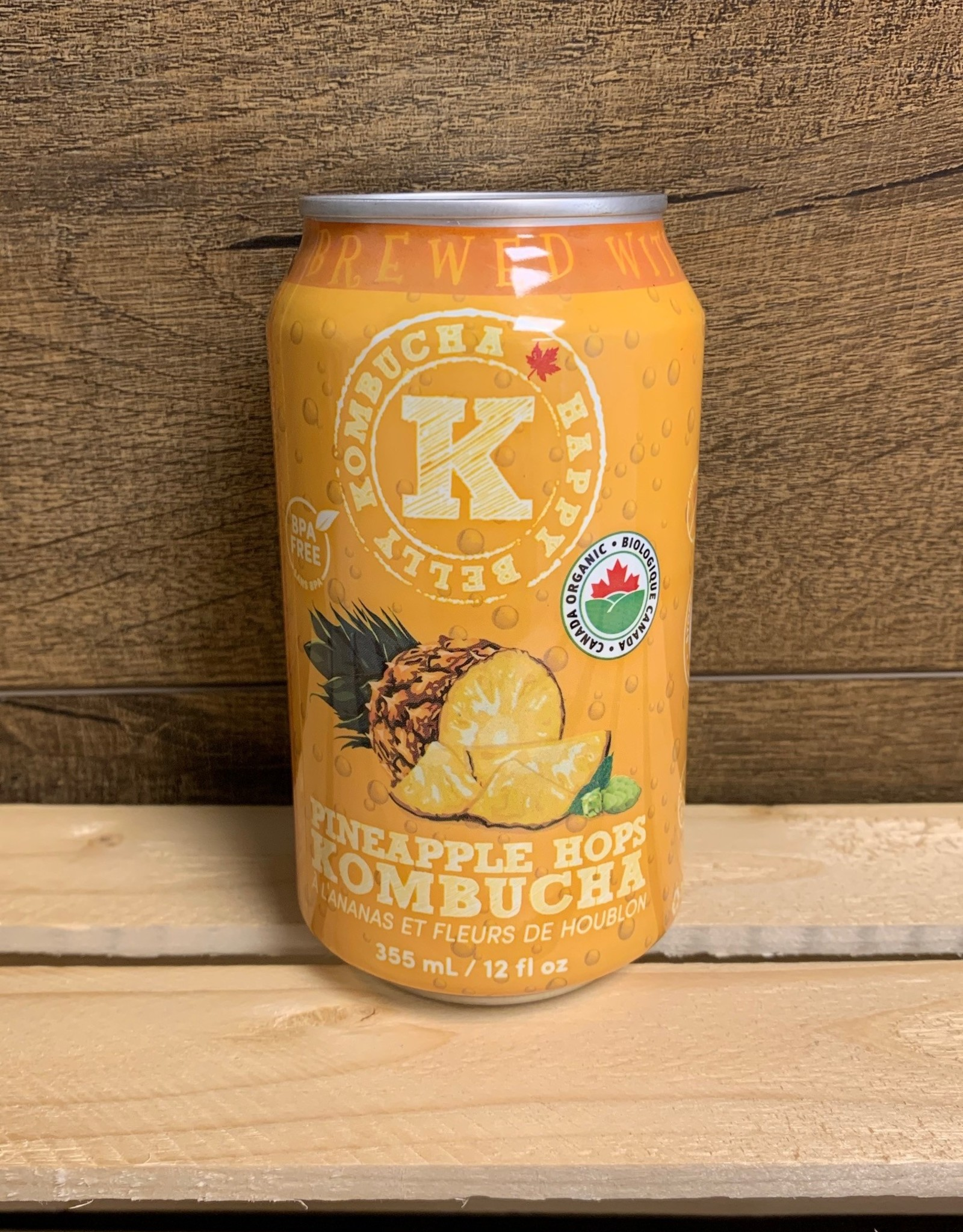 Happy Belly - Kombucha, Pineapple Hops single