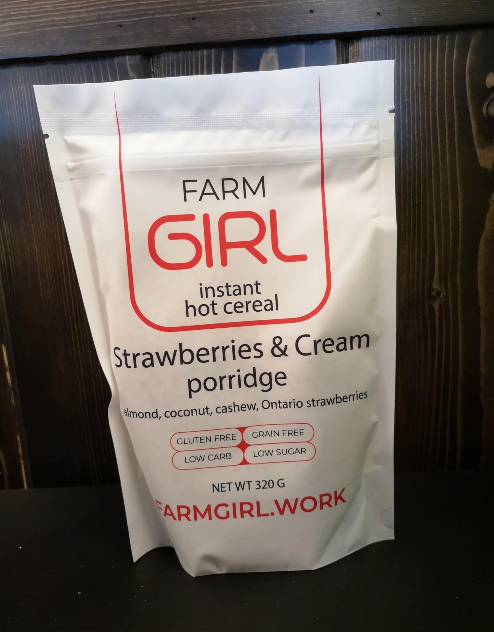 Farm Girl Farm Girl - Hot Cereal, Strawberry and Cream (300g)