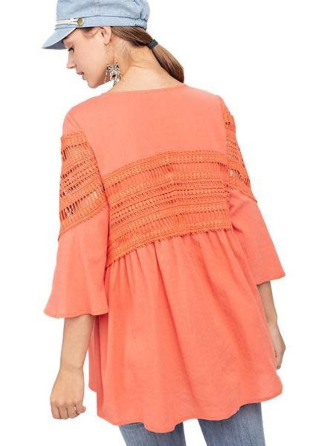 Baby Doll Coral Top