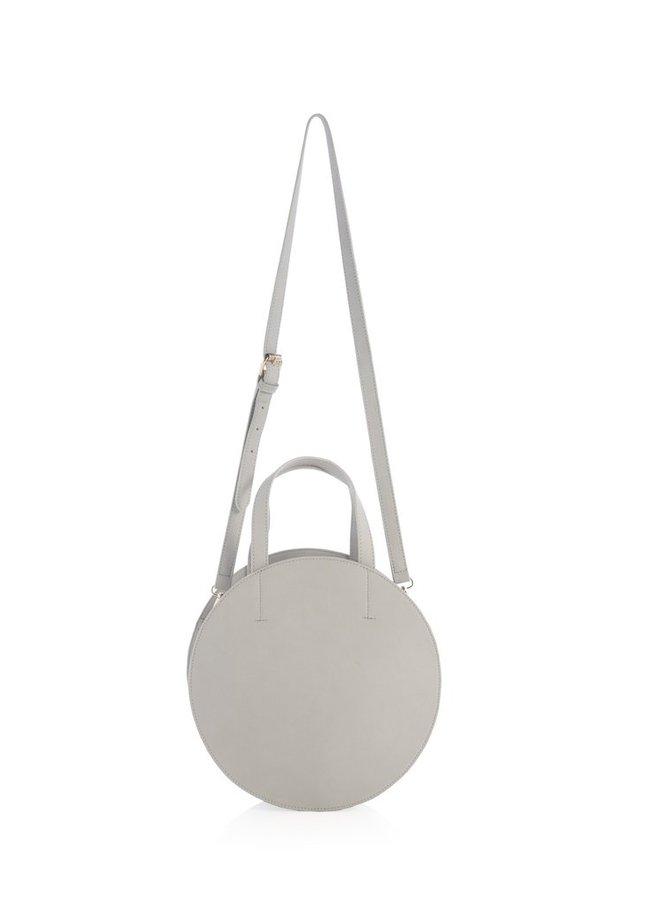 Mel Round Handbag In Grey