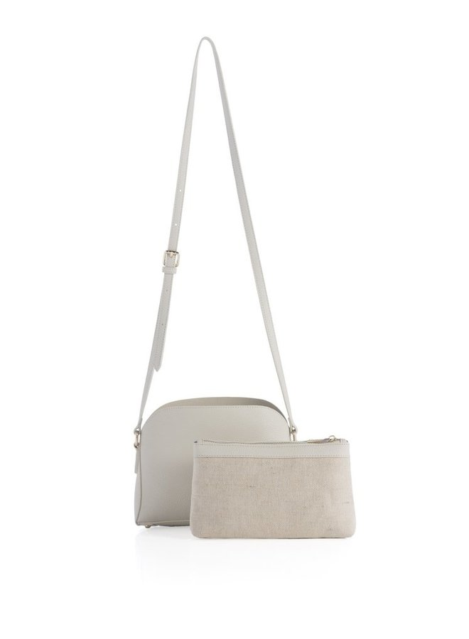 Dallas Cross Body Handbag In Ivory