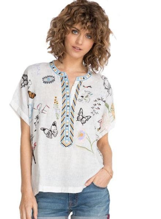 Johnny Was Nabi Linen Blouse
