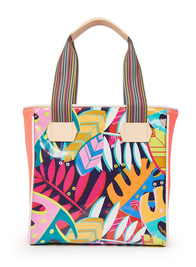 Consuela Classic Tote In Tropical Coral