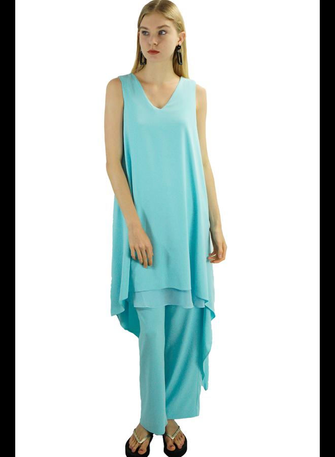 Renuar's Goddess Dress In Light Aqua