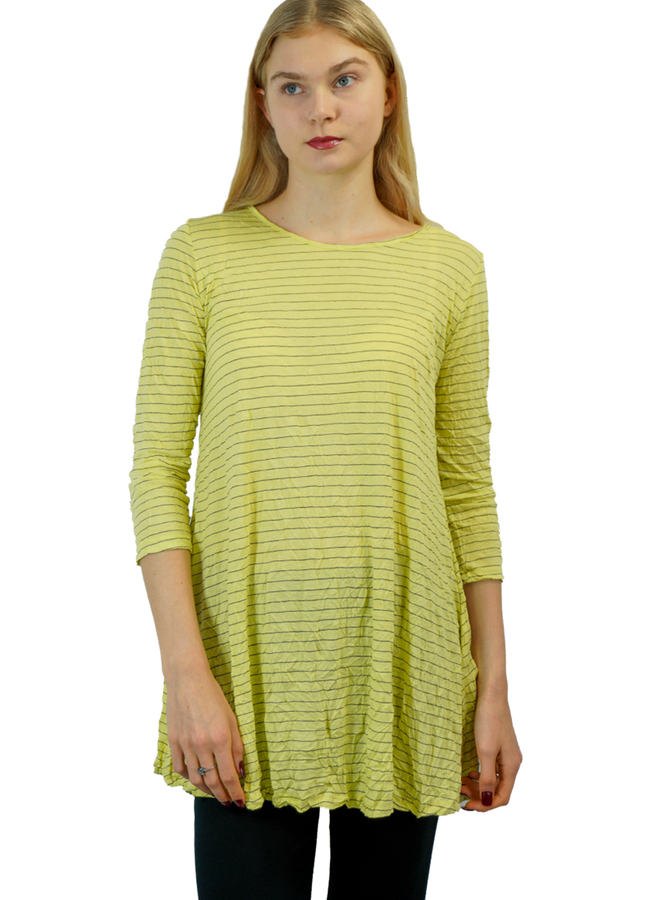 Comfy Simple Tunic In Crinkle Sun Stripe