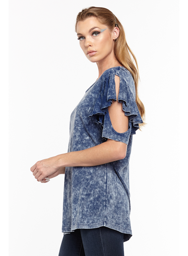 Aratta's Kelsey Tee Shirt In Denim Wash