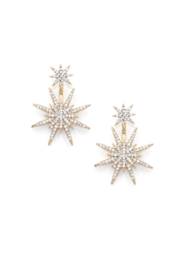 Double Star Peek Earrings