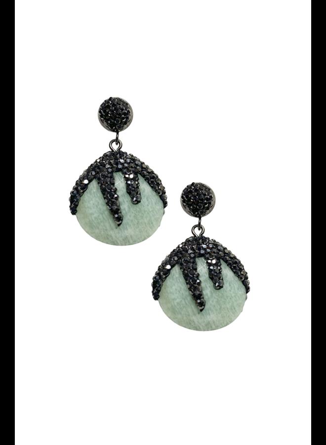 Amazonite Crystal Earrings