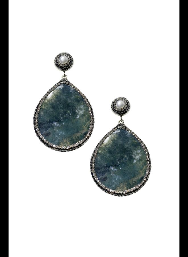 Teardrops of Stone Earrings