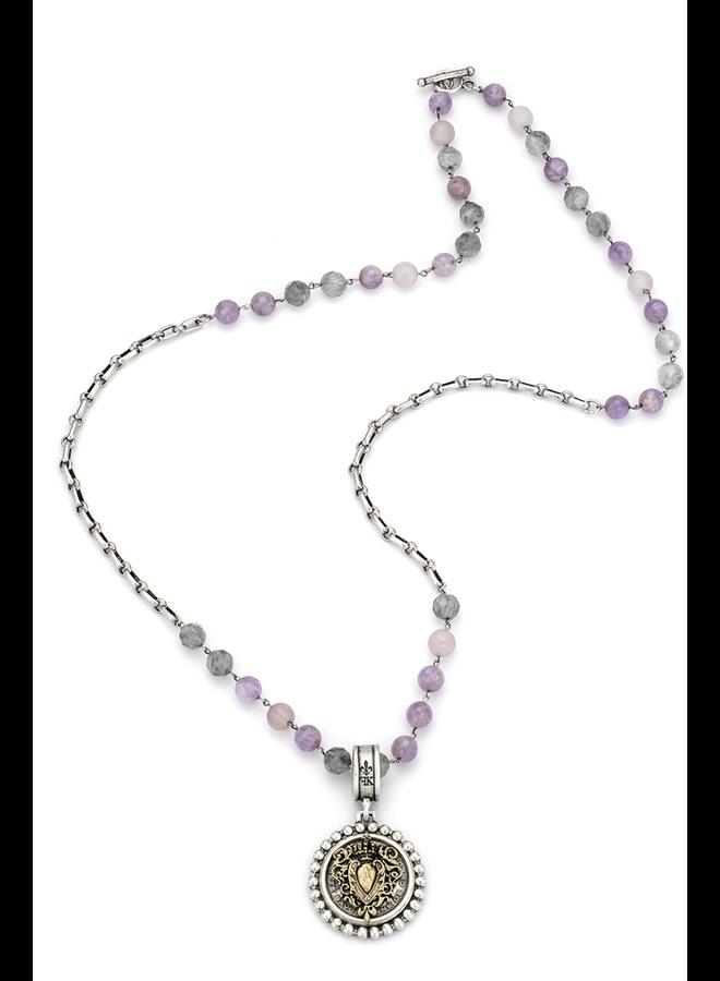 French Kande Lavender Mix & Heart Stack Medallion