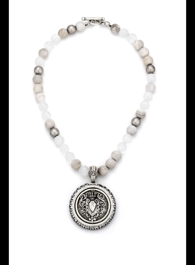 French Kande Linen Mix & Centennial Heart Medallion