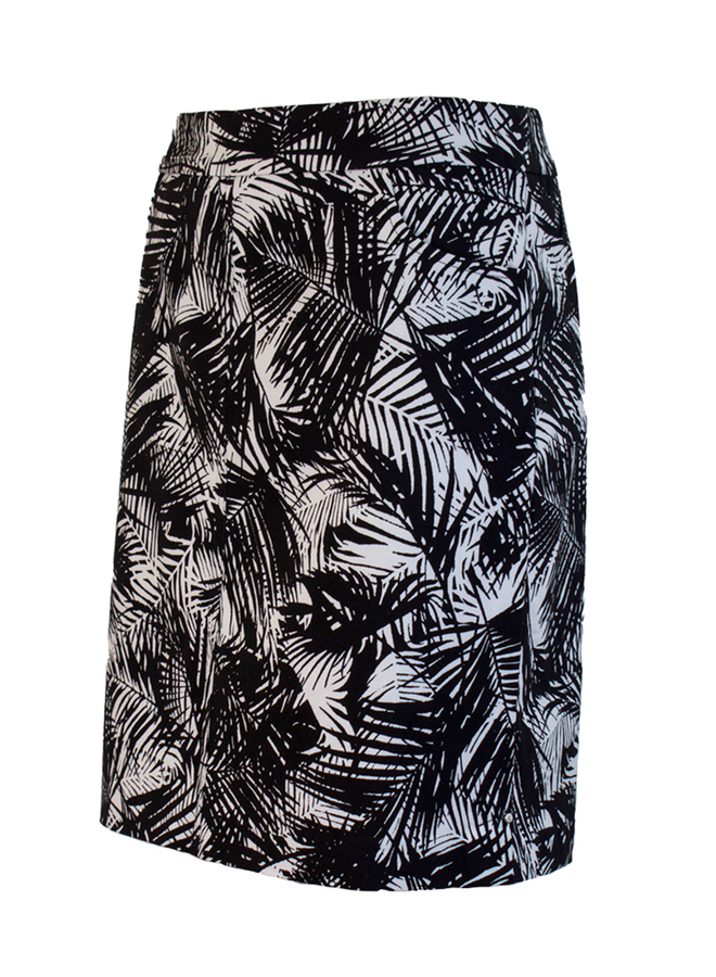 Renuar's Palm Skort In Black & White