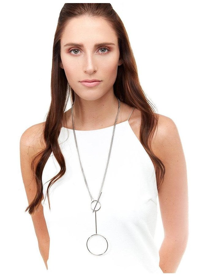 Toggle Lariat Chain Necklace
