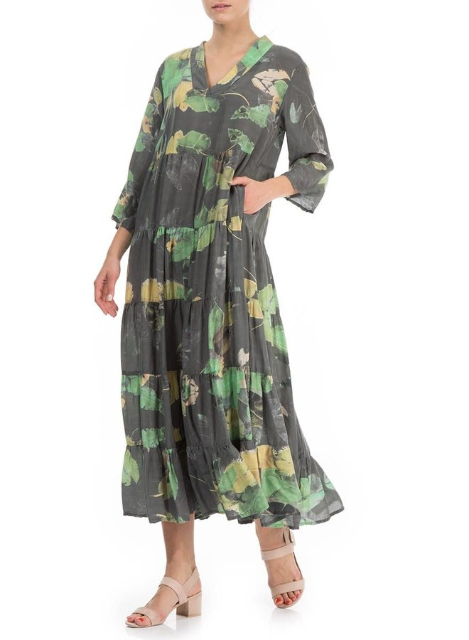Griza Water Lilies Maxi Dress