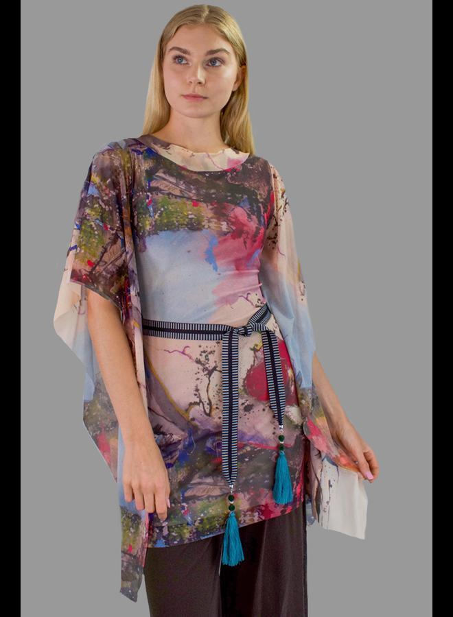 Petit Pois Short Dress/Tunic With Belt