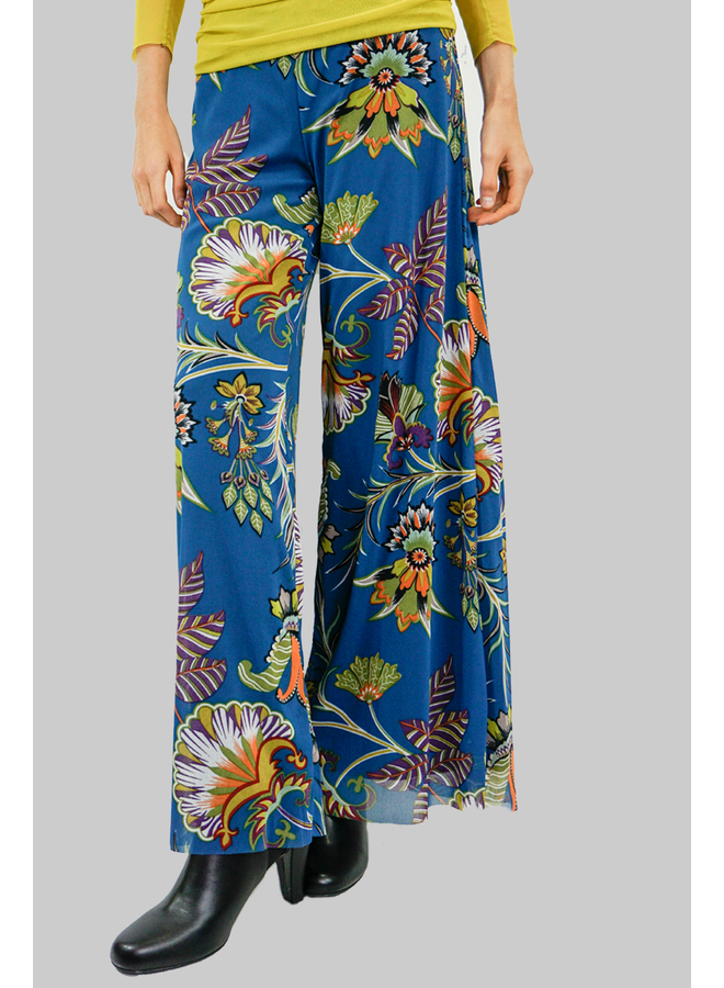 Petit Pois Palazzo Pants In Virtual Chlorophy