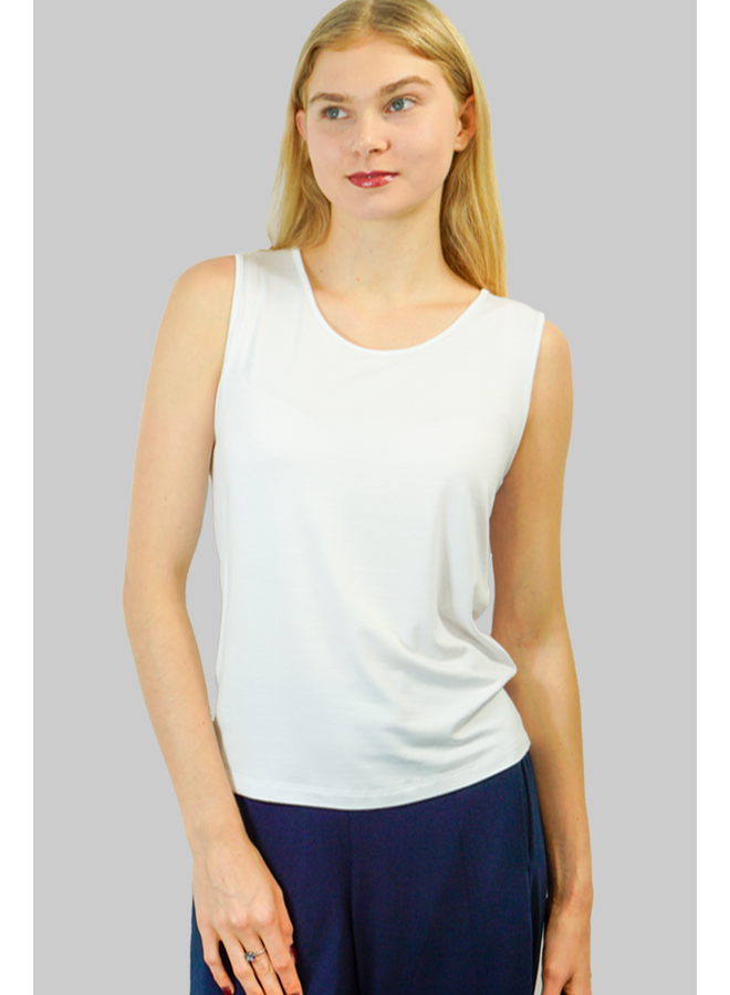 Comfy's Wide Strap Tank In White