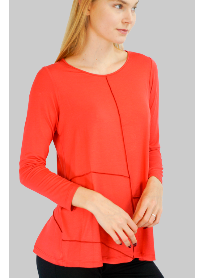Comfy Gina Top In Palm Beach Red